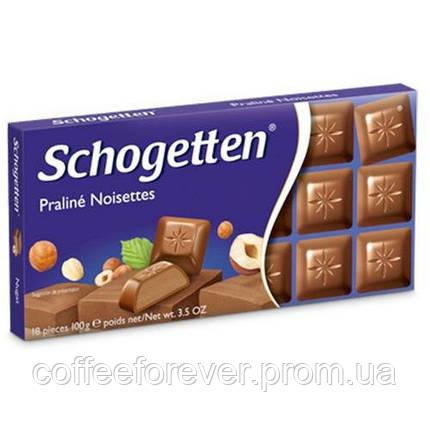 Шоколад молочный Schogetten Praline Noisettes 100 г, фото 2