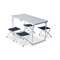 Комплект мебели Pinguin Set Table + 4 Stools petrol (PNG 621006 PETROL)