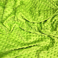 Плюш Minky салатового цвета 350 г/м2 кусок 100*80 № м-36