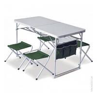 Комплект мебели Pinguin Set Table + 4 Stools green (PNG 621006 GREEN)