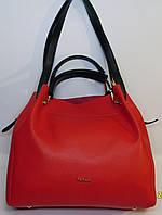 """Женская кожаная сумка """"B'Elit"""" красного цвета"""