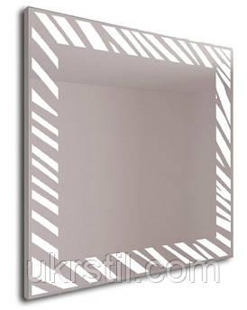 Зеркало Zebrano с подсветкой