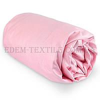 Простынь на резинке Viluta 160х200+20 розовый Сатин Твил, Розовый, 160х200