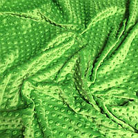 Плюш Minky зелёного цвета 350г/м2  кусок 100*80 № м-37