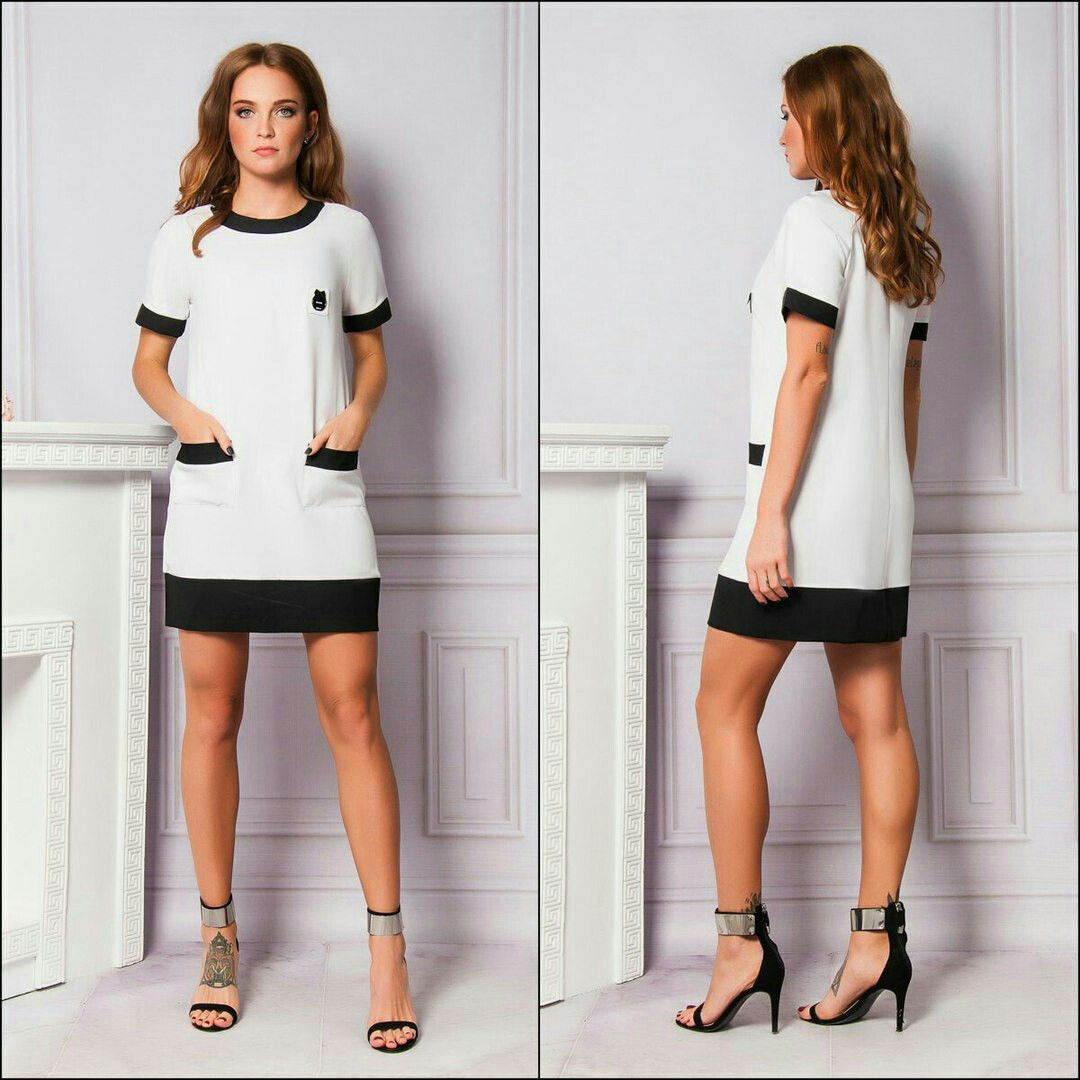 94cc5181f9f Купить Платье белое короткое трикотаж оптом и в розницу от интернет ...