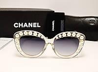 Женские солнцезащитные очки Chanel Lux 5801 Жемчужный цвет