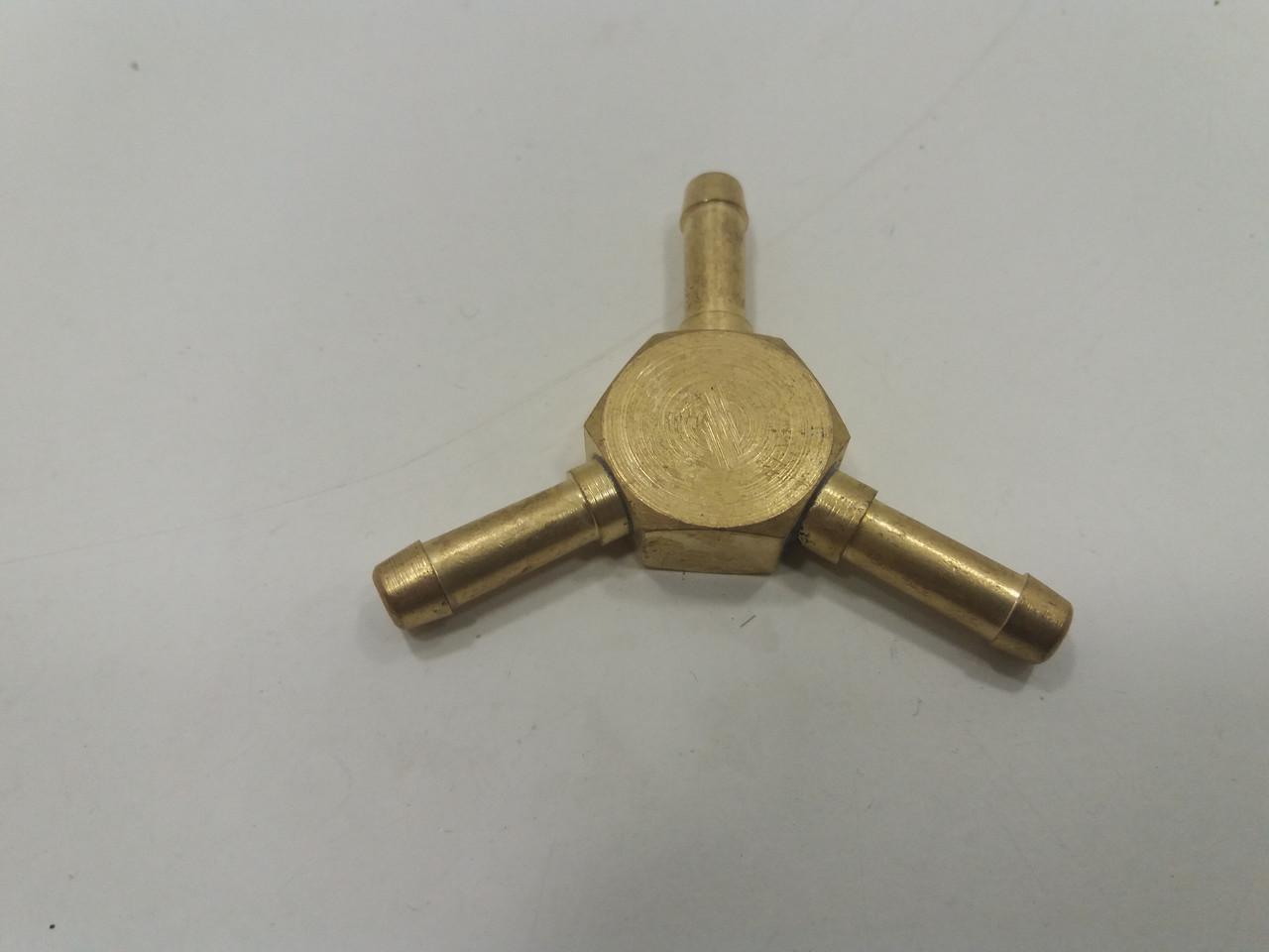 Тройник латунный 6-6-6 мм