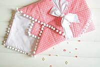 Детский конверт - одеяло (80х80см, весна-осень, подкладка-синтепон)