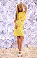 Костюм с юбкой. Ткань - летний жаккард. Рост модели 1,74, 3 расцветки фото реал апро№020-202