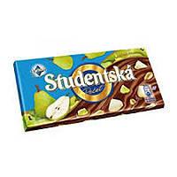 Молочный шоколад STUDENTSKA PECET с грушей, 180 гр