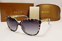 Женские солнцезащитные очки Gucci 6108 цвет лео