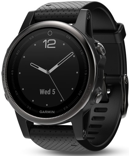 Смарт-годинник Garmin fenix 5S Black Sapphire with Black Band