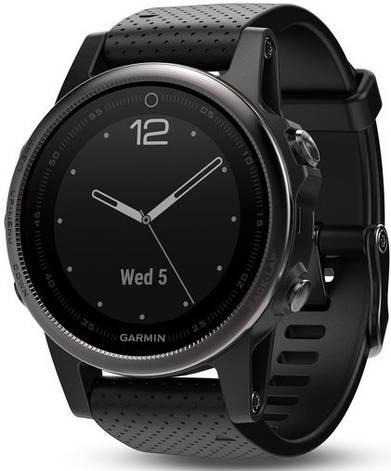 Смарт-годинник Garmin fenix 5S Black Sapphire with Black Band, фото 2