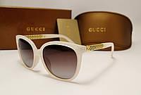 Женские солнцезащитные очки Gucci 6108 цвет молочный