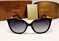 Женские солнцезащитные очки Gucci 6108 цвет черный