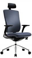 Кресло компьютерное c подголовником Patra FLEX Серый