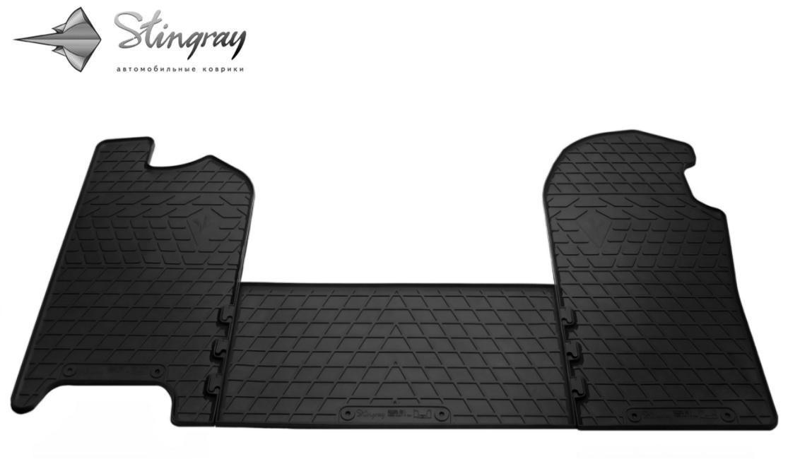 Резиновые коврики Ивеко Дейли  IV 2006- Комплект из 3-х ковриков Черный в салон - Stingray® официальный магазин производителя резиновых автоковриков. в Львове