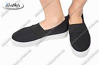 Женские слипоны черные (Код: HY-498)