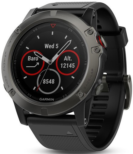 Смарт-годинник Garmin fenix 5X Slate Gray Sapphire with Black Band
