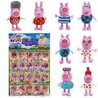 Набор фигурок Свинка Пеппа 12512  20шт на листе