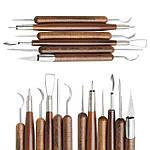 Инструменты дерево-металл для лепки, для резьбы по дереву,для воска и пластилина