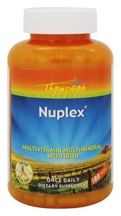 Витамины Thompson Nuplex Multi-Vitamin with Minerals 180 таблеток - интернет-магазин besuto.prom.ua в Луцке