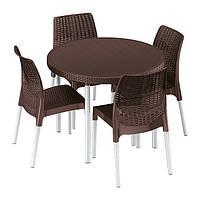 Комплект мебели Keter Jersey set коричн.
