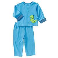 """Детский трикотажный комплект для мальчика """"Динозаврик""""   3-6  месяцев"""