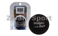 Мяч утяжеленный PS W-026-1LB (резина, силикон, d-60мм, 1LB, черный)