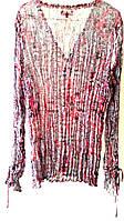 Блузка с длинным рукавом из жатого шифона, 46-50размер