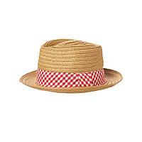 Детская соломенная шляпа для мальчика. 6-12 месяцев