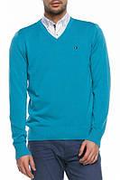 Мужской свитер De Facto насыщенно-голубого цвета