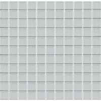 Мозаика WHITE glass белая прозрачное стекло на подложке (B080)
