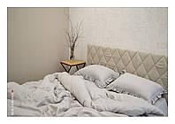 Семейный комплект постельного белья из 100% льна с оборками на наволочках, фото 1