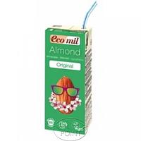 Органическое миндальное молоко с сиропом агавы, Ecomil, 200 мл (8428532230023)