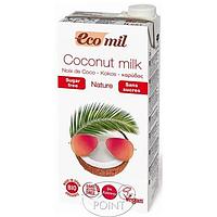 Органическое растительное молоко из кокоса без сахара, 1л, EcoMil (8428532121437)