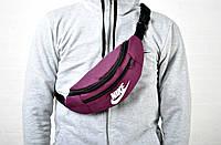 Мужская пояснаная сумка бананка найк (Nike), текстиль