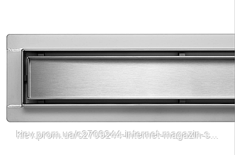 Трап для душа, душевой трап Poland Lux серия из пищевой нержавеющей стали 40 см линейный под плитку