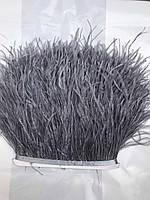 Перьевая тесьма из перьев страуса .Цвета оттенки серого.Цена за 0,5м, фото 1