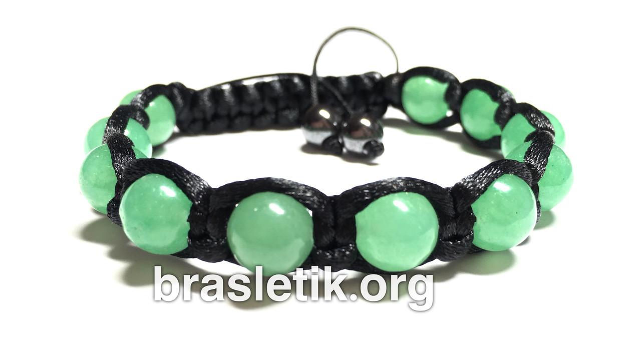 Женский браслет шамбала из нефрита