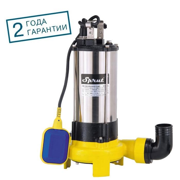 Дренажно-фекальный насос Sprut V 1300D с измельчающим механизмом