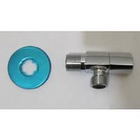 Кран для подключения сантехнических приборов DTM 1/2'х 1/2' ручка треугольник DCСТ