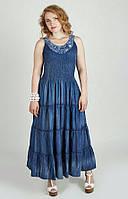 Сарафан женский Джинсовый 2329, джинсовый сарафан недорого