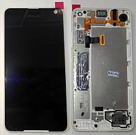 Дисплей + сенсор Microsoft Lumia 650 в белой рамке