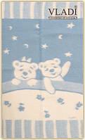Одеяло жаккардовое детское Wladi Люкс «Умка» из нежной шерсти новозеландских овец