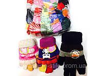 Перчатки детские, размеры S,M,L,10шт.разных цветов в упаковке