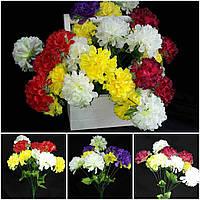 Красивая калинка с разноцветными цветами, разные цвета, выс. 47 см., 10 голов, 42/36 (цена за 1 шт. + 5 гр.)