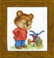 Набір для вишивання хрестом Crystal Art Подарунок для ведмедика