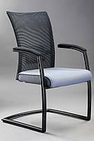 Конференционное кресло на каркасе КРЕДО Черный металлический