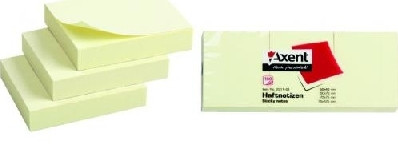 "Стикер, бумага для заметок ""Axent"" 50 x 40, 100 шт."